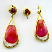 Rita's Ruby Earrings Jewelry Design by Yanke Design